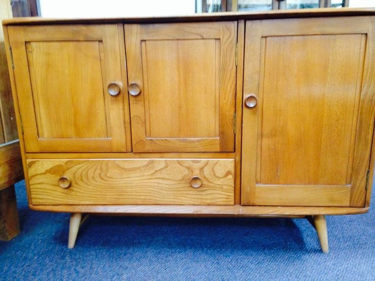 VINTAGE RETRO ERCOL WINDSOR TEAK SIDEBOARD 1960s EARLY 70s ,IMMACULATE | eBay