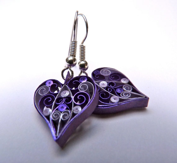 Quilling Papers Earrings: 396 Best Images About Quilling - Hearts On Pinterest