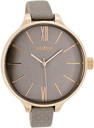 Oozoo Damenuhr mit Lederband 45 MM Rose/Grau/Grau C7541 - http://uhr.haus/oozoo/oozoo-damenuhr-mit-lederband-45-mm-rose-grau-grau