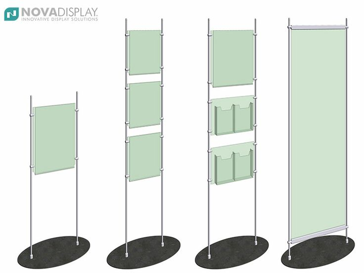 17 best images about modular display stands floor - Porta poster plexiglass ...