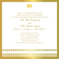 Wedding Invitations Blooming Vines Vegas Gold Wedding