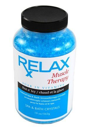 Muscle Therapy Bath Salts -19 Oz- Therapeutic Natural Vitamin Crystals for Soaking Aches, Pains, Swelling & Stress Relief for Whirlpool by Relax Spa & Bath. Save 31 Off!. $10.95. Powerful Aromatherapy with Natural Coloring - Enhances Relaxation - Vitamin Enfused. Muscle Therapy - 19 Oz Bottle - All Natural, Therapeutic Bath Crystals - Perfect to Speed Recovery of Sore Muscles. Remedy for Aches and Pains - Reduce Tension & Stress - Enhance Self-Healing & Detoxify. For Spas, ...