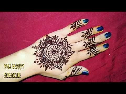 simple  different full hand mehndi design gulf arabic
