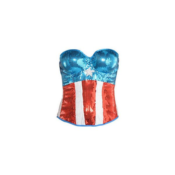 Women's American Dream Costume Accessories ❤ liked on Polyvore featuring costumes, women superhero costumes, ladies superhero costumes, women super hero costumes, super hero halloween costumes and super hero costumes