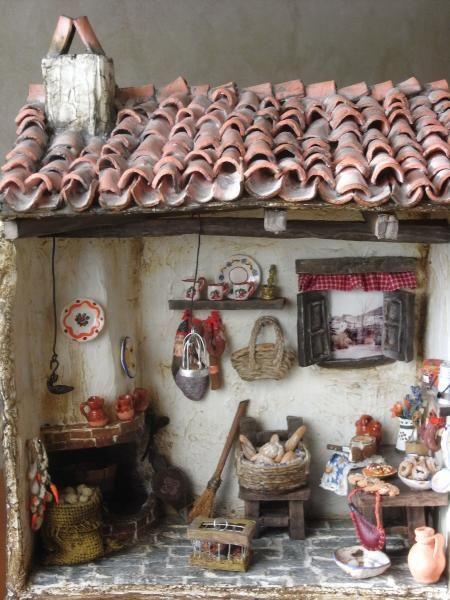 Cocina  tipica rústica en miniatura - artesanum com