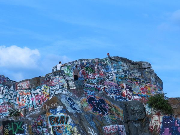 From economic backbone of a community to deadly diving hole, these former stone quarries are now a park for rock climbers and graffiti artists