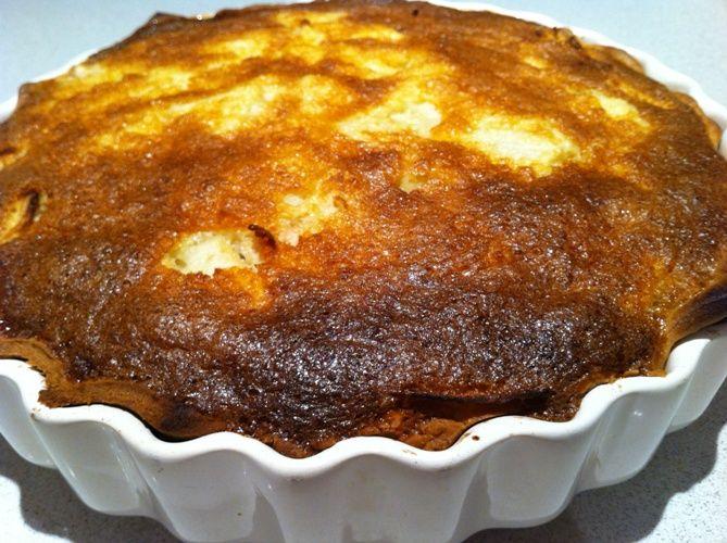 Feijoa cream coconut pie