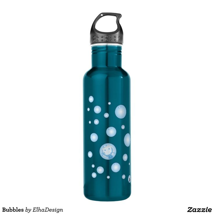 BPA free 24oz Water Bottle, comes in different colors! ;) Bubbles!!!