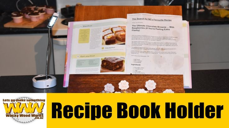 Recipe Book Holder - Off the cuff - Shane's Hobby Shop Mothers Day Conte...