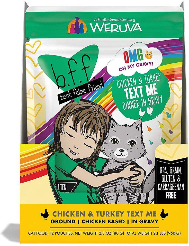Bff omg text me chicken turkey in gravy wet cat food