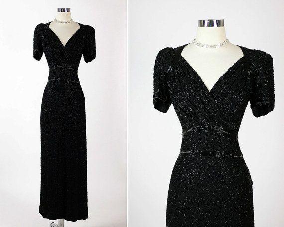 Elegant 1940s Party Dresses