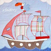 Quilt 'Boat' voor jongens van Room Seven