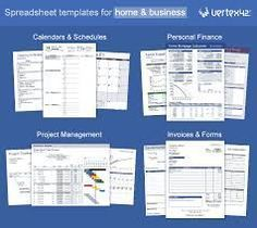 Excel templates, calendars, calculators and spreadsheets by vertex42 #FinanceSpreadsheet