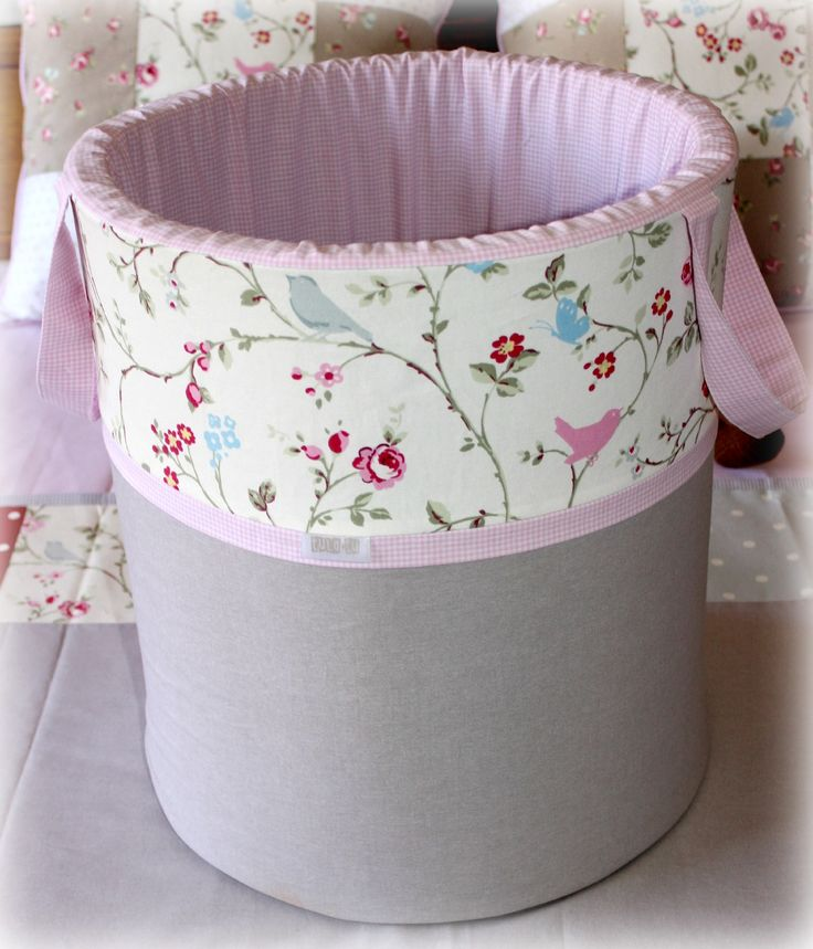 """Toy Barrel / Laundry Bin in our """"Bloom"""" range. For more details visit our website: www.tulatu.co.za"""