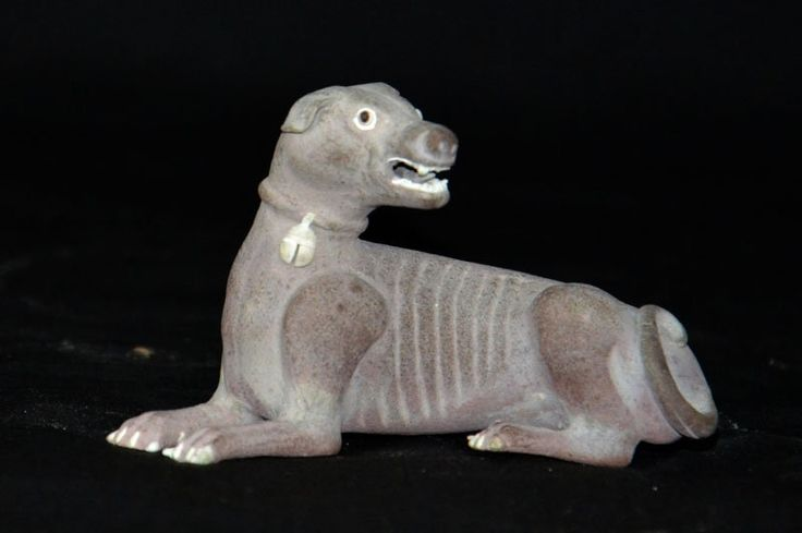 A Dog Biscuit Figurine KangXi Period