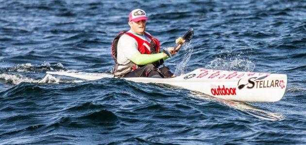 FatPaddler.com® rocks the Manly Wharf Bridge to Beach surfski race