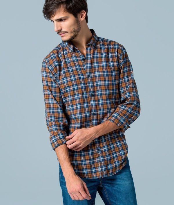 Catálogo Springfield 2015 | Tendencias Moda Hombre camisa cuadros