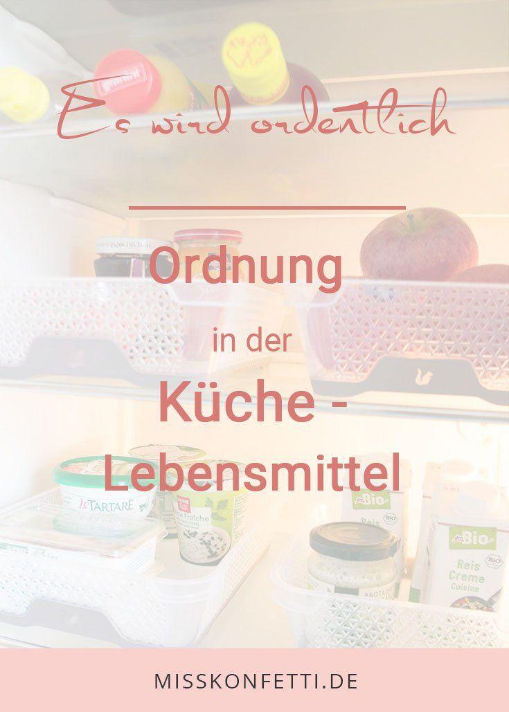 Küche organisieren Lebensmittel