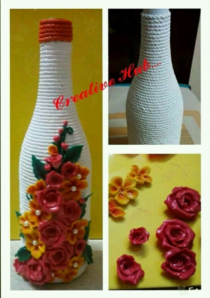 16 best best out of waste images on pinterest craft for Decoration with waste bottles