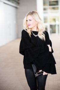 Winter outfit idea featuring Swarovski at Macy's - click through for more of this holiday outfit idea.