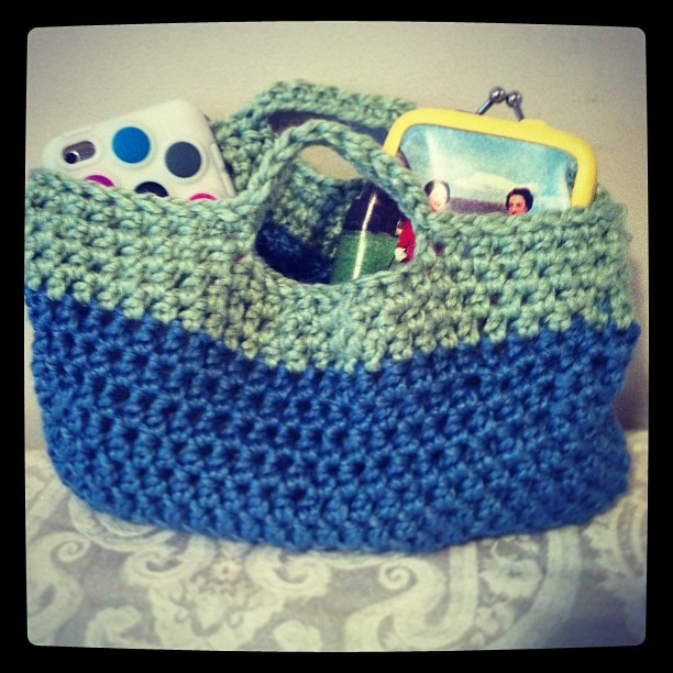 Crochet Retro Mini Purse