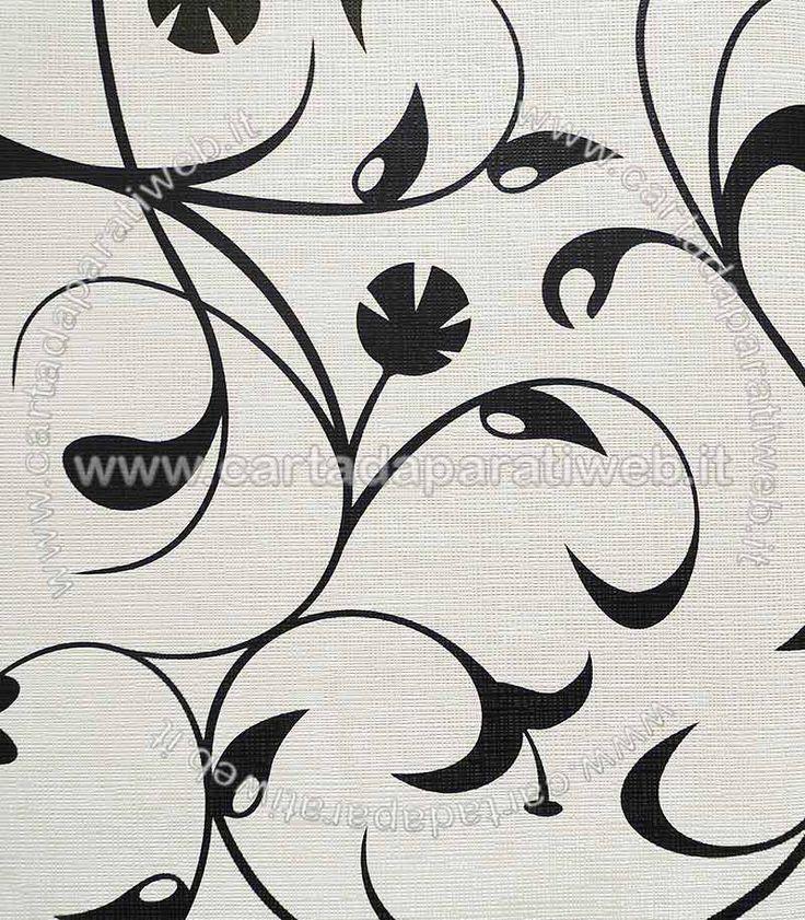 Black e white Vinilico espanso a rilievo su TNT, si consiglia di applicare con colla per TNT o multiuso (disponibile in accessori) codice: 6236-14