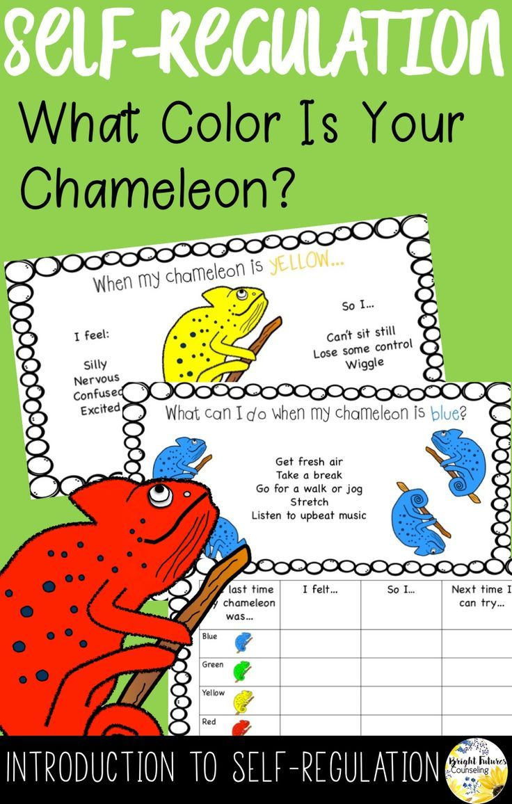 Introduce your elementary students to self-regulation with these cute chameleons!