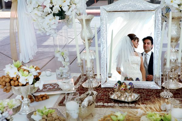 Possible layout for the persian wedding ceremony table for Persian wedding ceremony table