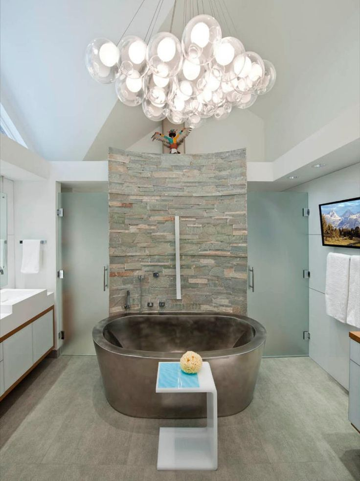 25 stunning bathroom designs design stacked stone walls for Stacked stone bathroom ideas