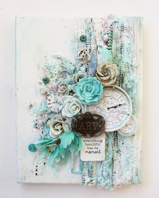 Kirsten Hyde My Craft and Garden Tales: Mixed Media Canvas with tutorial