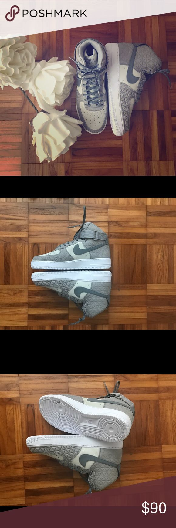 Nike Original•Air Force 1 Brand New Nike Air Force 1 ✨ Custom grey design  Hot Deal on hot kicks Women's size 9.5 ALL questions welcome! 💋 Nike Shoes Sneakers