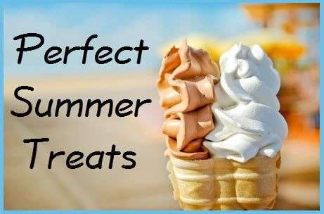 Perfect Summer Treats. Finding ways to cool off while enjoying something yummy is the perfect way to spend the summer. Here are some great recipes to try out this summer.