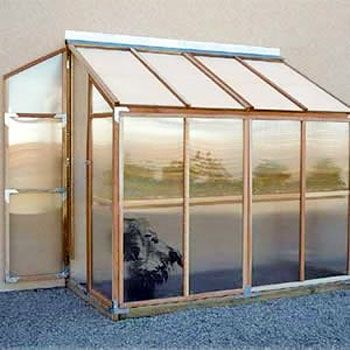 FREE SHIPPING. A mini-greenhouse for your deck or patio! The Lean-To GardenHouse is made to attach to the wall of your house or garage - any smooth surface.