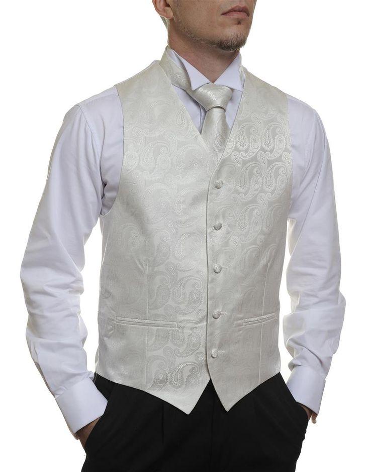 Ivory Paisley  #Australia made #AU #Groom #Dinner #Vest #Fashion #Clothing #Beautiful #Wedding