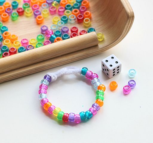 Roll & Bead . Math Bead Activities . Activities for Kids: Adventures In Learning | PBS Parents