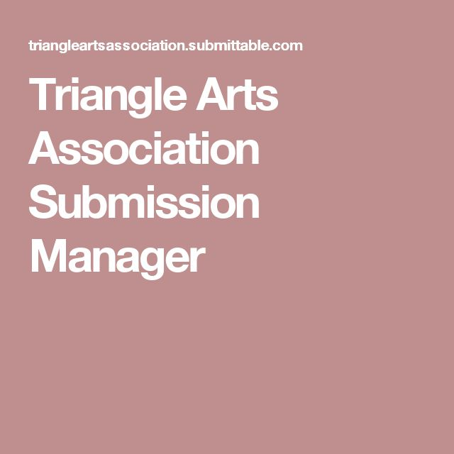 Triangle Arts Association Submission Manager