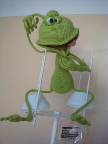 Verdrehten Frosch häkeln