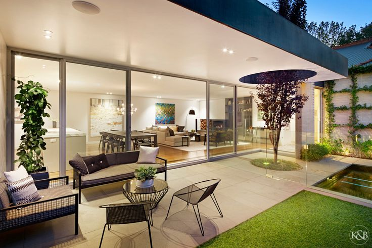 Private courtyard and Jack Merlo designed landscaped garden.
