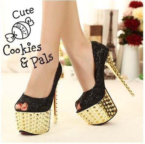 [$20.26]Women peep toe fashion spike sexy lace pumps SY-C2726