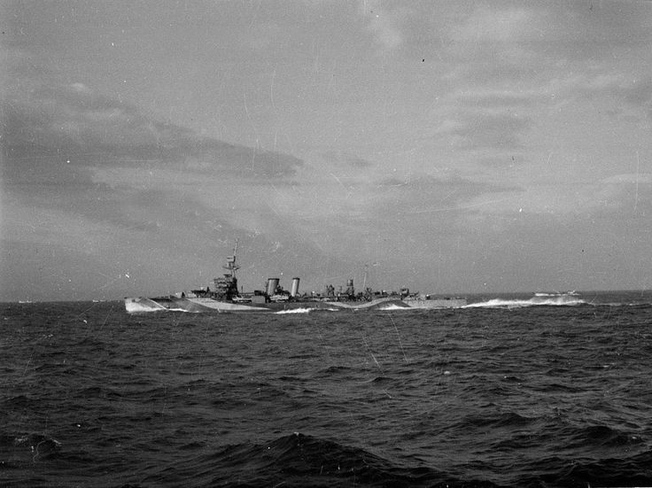 'Dusk, 6th June, 1944 - one of our escort'.    Photograph by Major W H J Sale, MC, 3rd County of London Yeomanry (Sharpshooters), World War Two, North West Europe (1944-1945), 1944.    This Royal Navy escort vessel was one of over 5,000 ships and landing craft that crossed the Channel on 5-6 June 1944. That morning, American, British and Canadians landed on beaches codenamed Gold, Juno, Sword, Omaha and Utah.