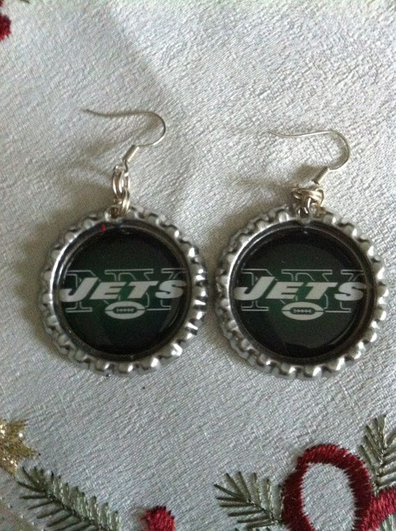Hey, I found this really awesome Etsy listing at https://www.etsy.com/listing/207453790/new-york-jets-inspired-earrings-made