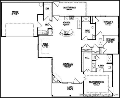 Accessible home floor plan drawn by stanton homes for Small wheelchair accessible house plans