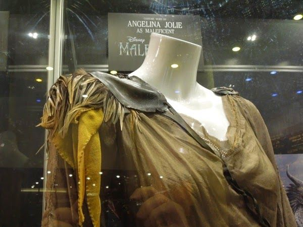 Hollywood Movie Costumes and Props: Angelina Jolie and Elle Fanning Maleficent movie costumes on display... Original film costumes and props on display