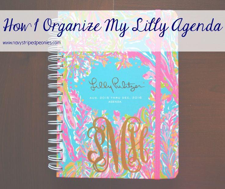 How I organize my Lilly Pulitzer agenda / preppy organization