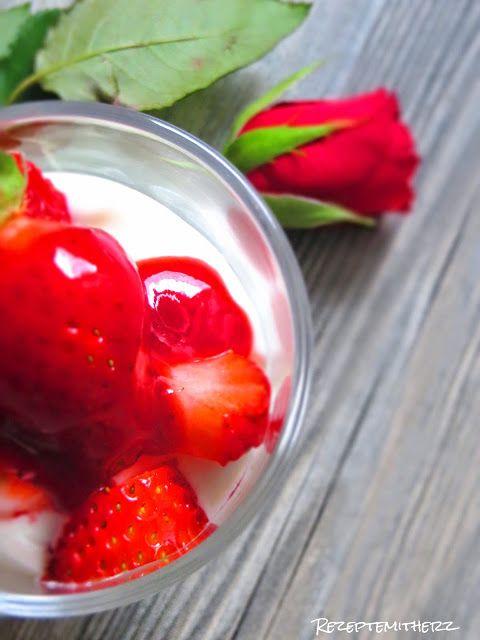 Himmliche Erdbeer-Quarkspeise