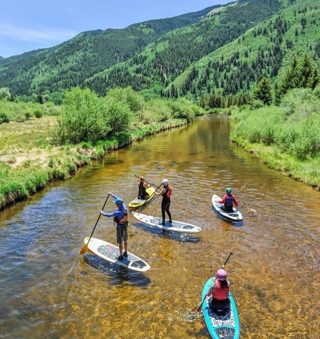 Aspen, CO paddle boarding