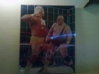 Hulk Hogan & King Kong Bundy Duel Signed 16x20. WWE-WWF *Free Shipping* Free Photon$ Gifts