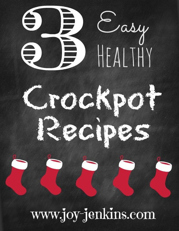 Here are a few crock pot recipes to get you through the holidays healthy! Everyone is busy and I wanted to give you a few recipes to use that you entire family will love! Slow Cooker Chicken Fajita...