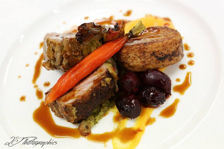 A delicious #weddingmenu main course lamb two ways