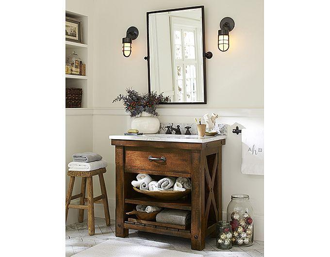 Bathroom decorating photos pottery barn new bathroom for Decor bathroom accessories jamnagar